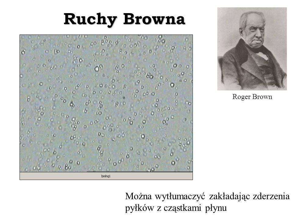 Ruchy Browna Można wytłumaczyć zakładając zderzenia