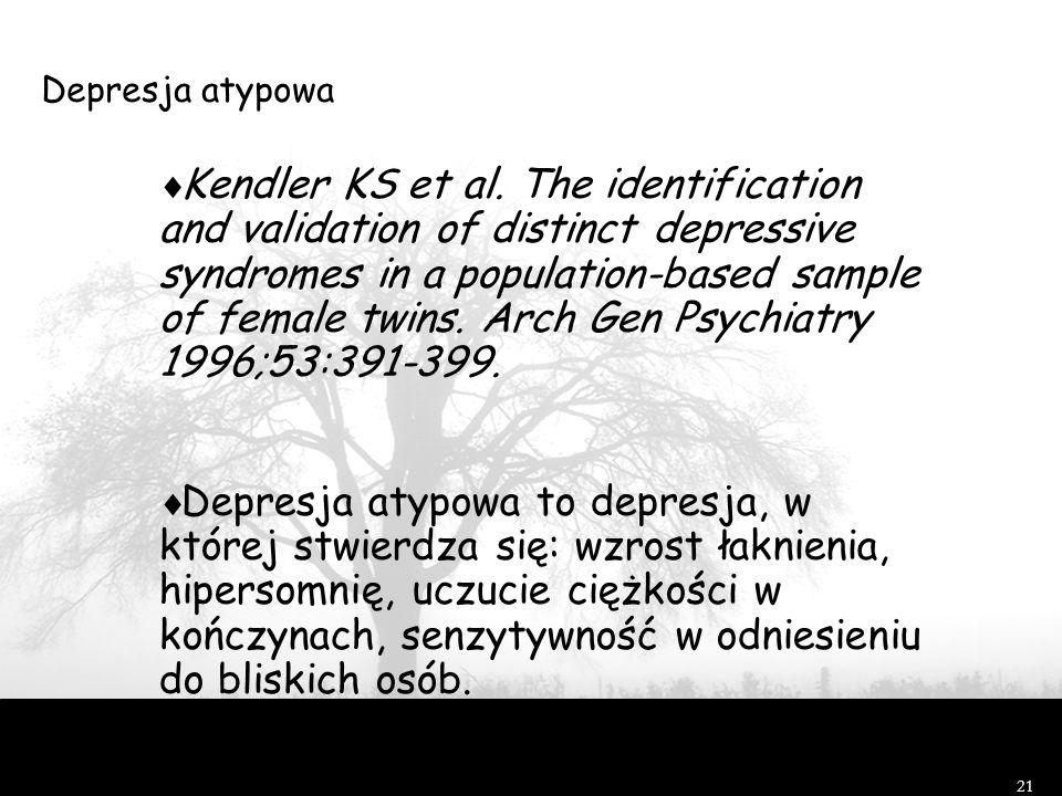Depresja atypowa