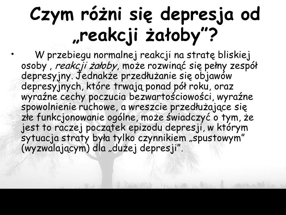 """Czym różni się depresja od """"reakcji żałoby"""