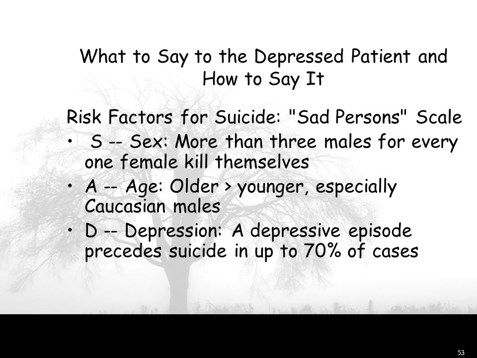 What to Say to the Depressed Patient and How to Say It