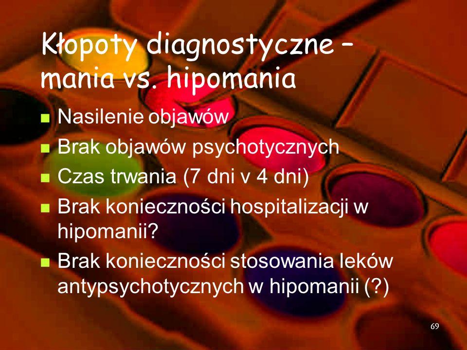 Kłopoty diagnostyczne – mania vs. hipomania