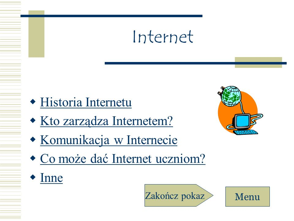 Internet Historia Internetu Kto zarządza Internetem
