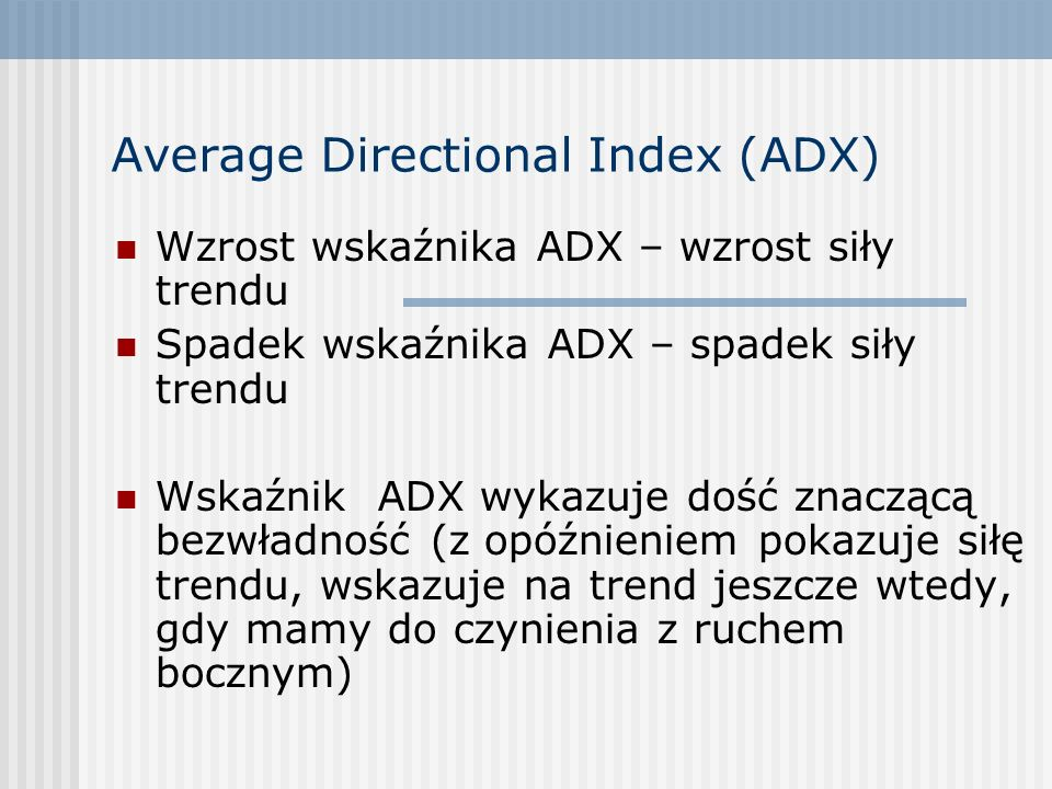 Average Directional Index (ADX)