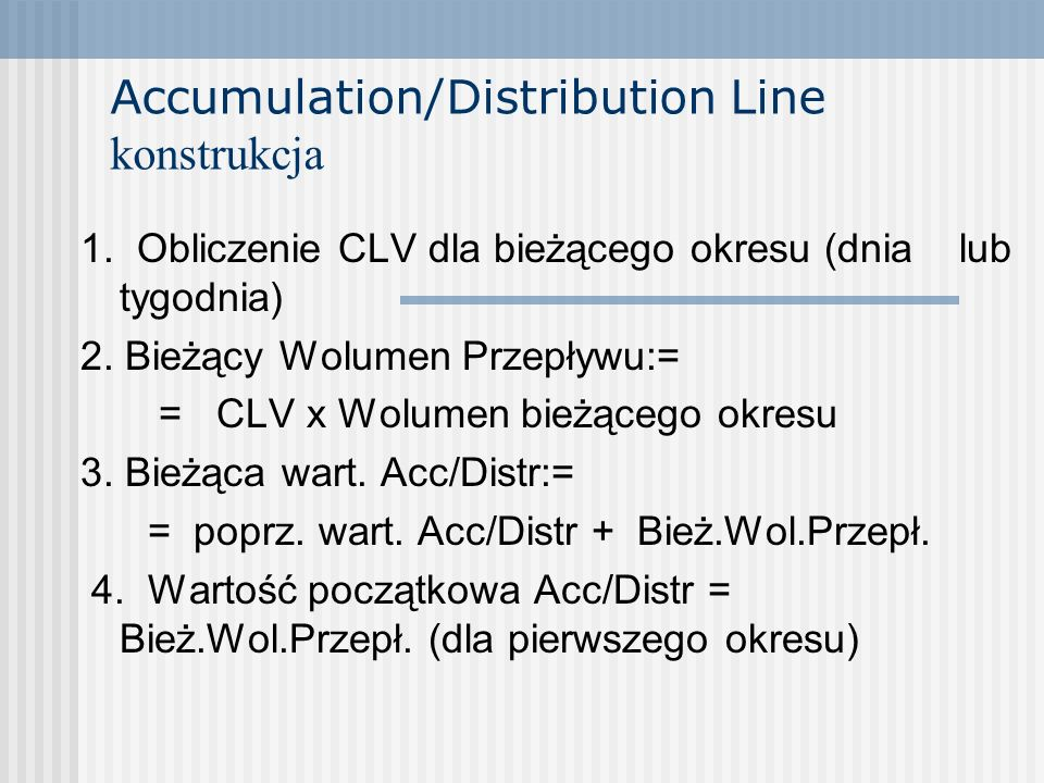 Accumulation/Distribution Line konstrukcja