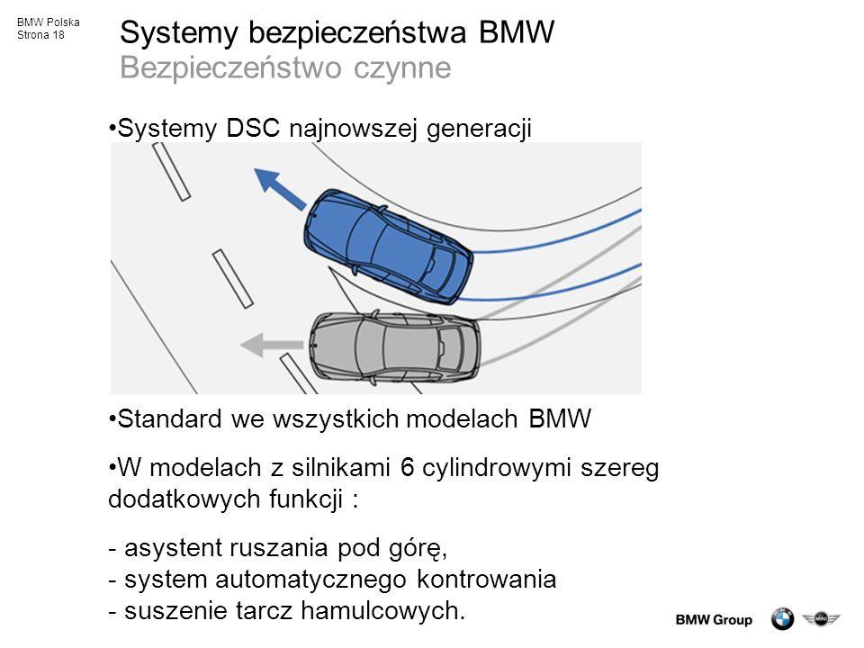 Systemy bezpieczeństwa BMW Bezpieczeństwo czynne
