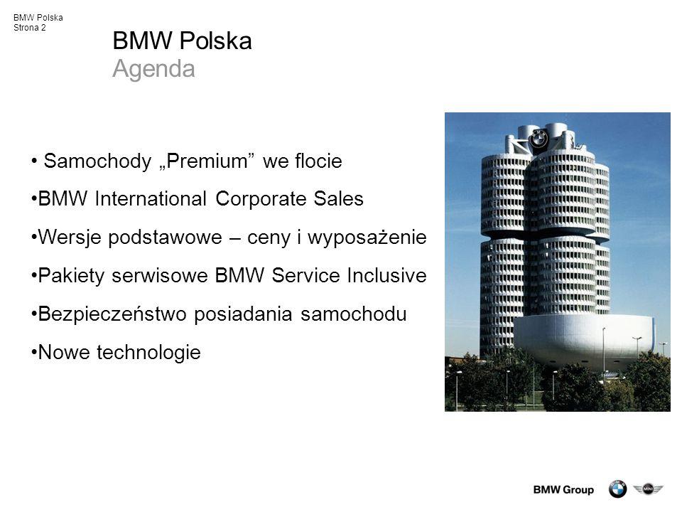 """BMW Polska Agenda Samochody """"Premium we flocie"""