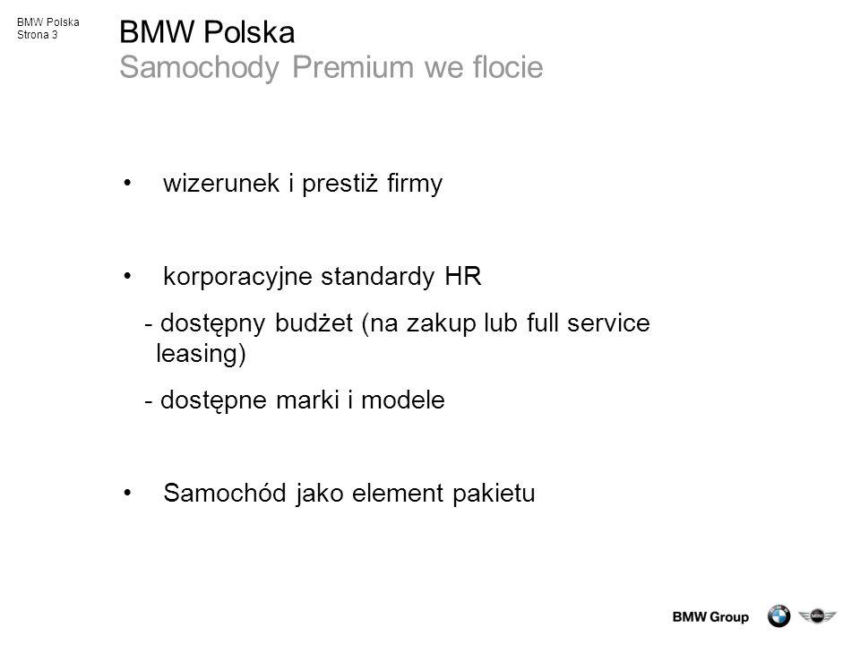 BMW Polska Samochody Premium we flocie