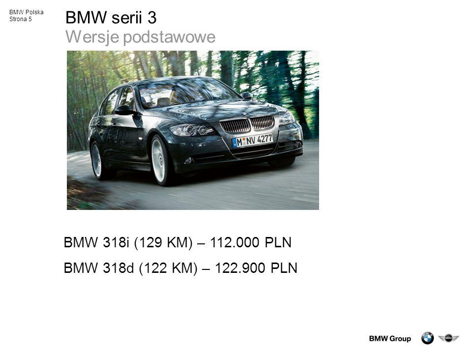 BMW serii 3 Wersje podstawowe