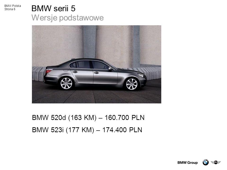 BMW serii 5 Wersje podstawowe