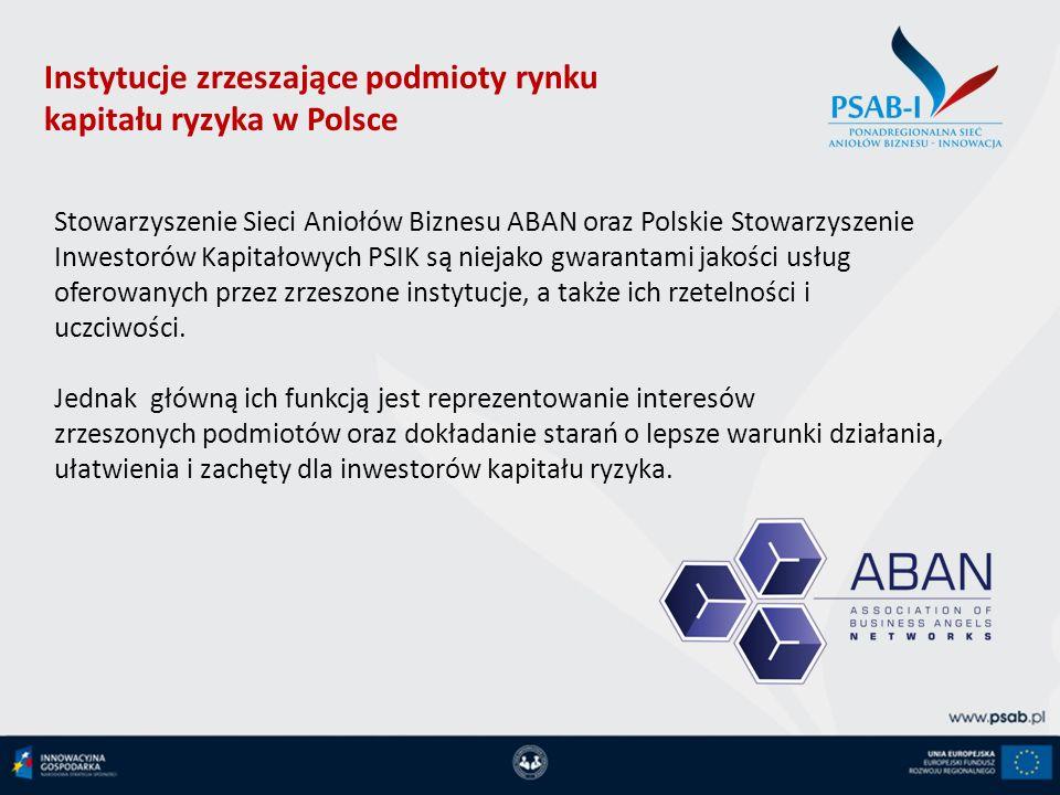 Instytucje zrzeszające podmioty rynku kapitału ryzyka w Polsce