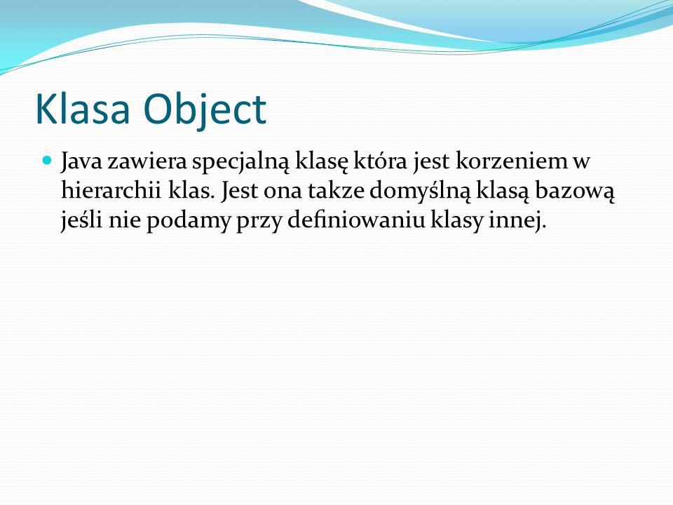 Klasa Object