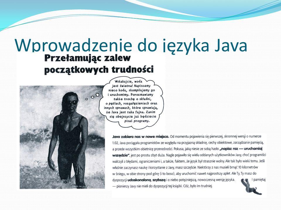 Wprowadzenie do języka Java