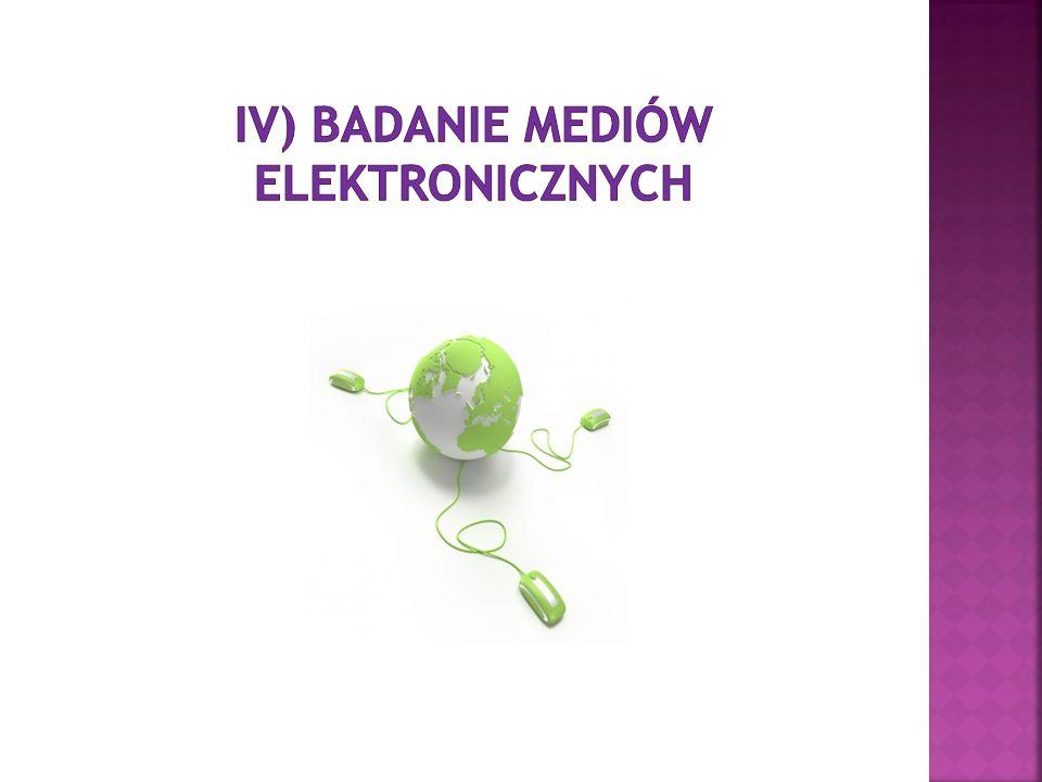 IV) Badanie mediów elektronicznych