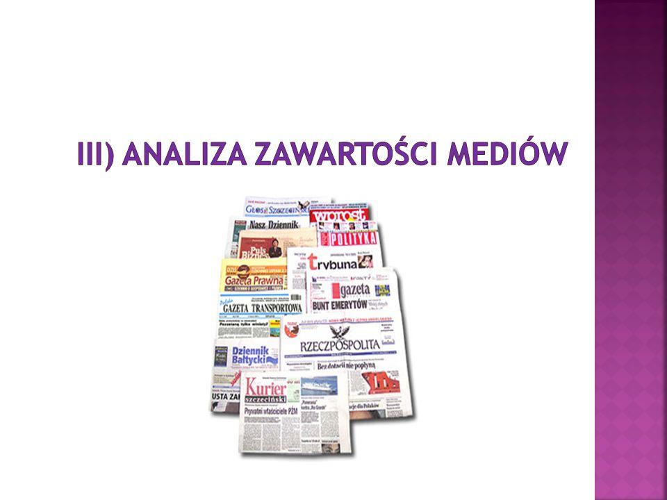 IIi) Analiza zawartości mediów