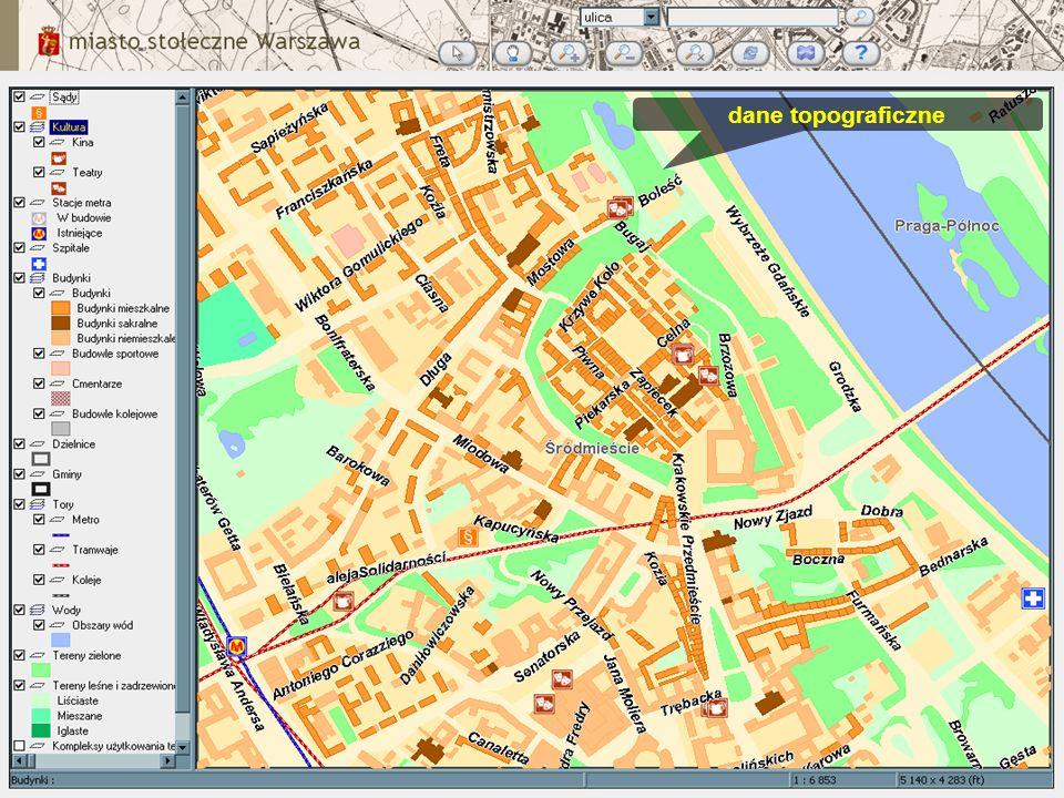 dane topograficzne
