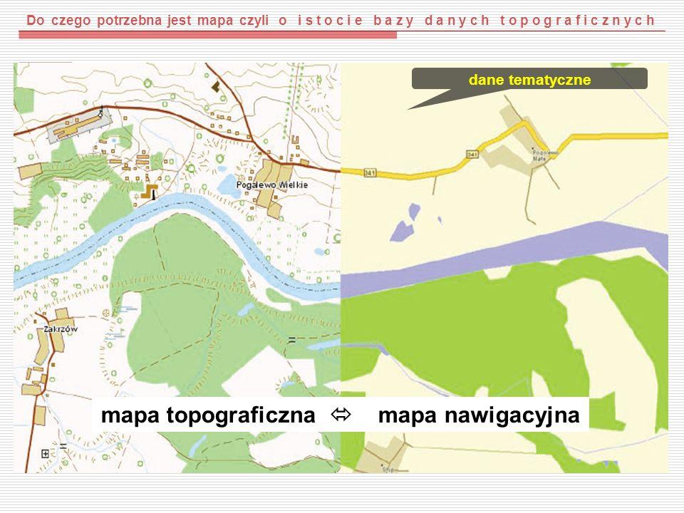 mapa topograficzna  mapa nawigacyjna