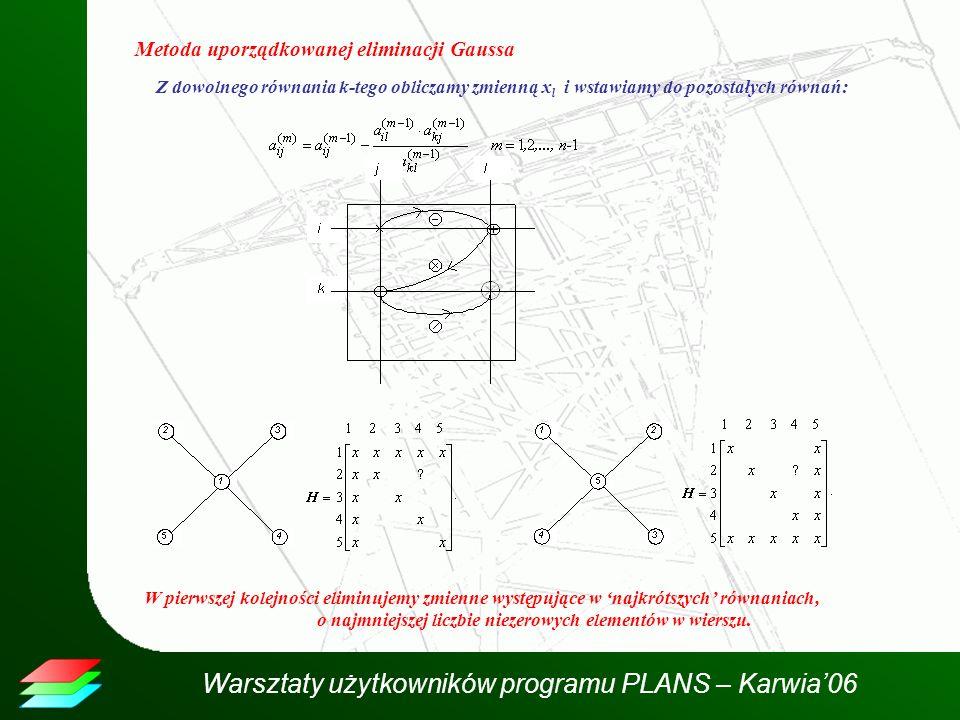 Metoda uporządkowanej eliminacji Gaussa