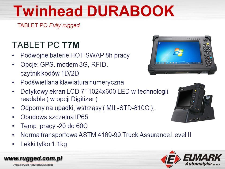 Twinhead DURABOOK TABLET PC T7M Podwójne baterie HOT SWAP 8h pracy