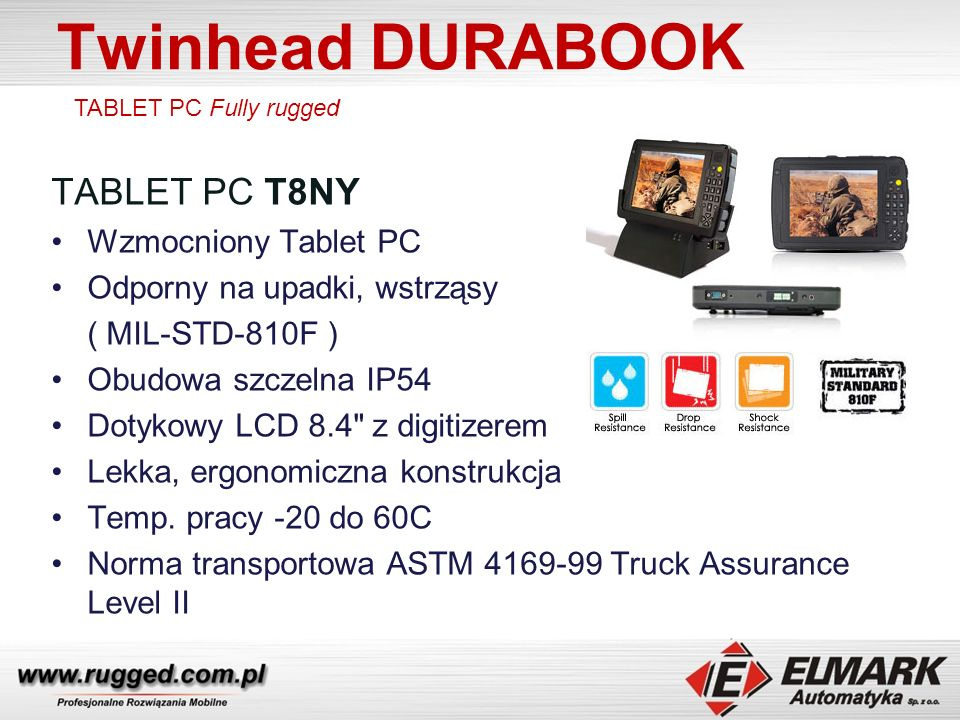 Twinhead DURABOOK TABLET PC T8NY Wzmocniony Tablet PC