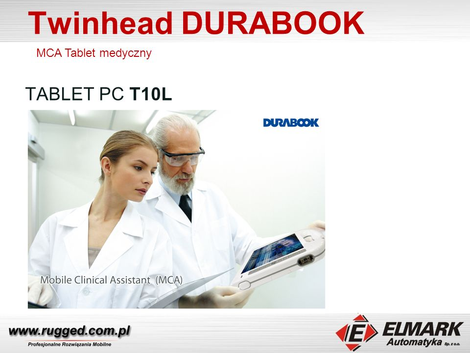 Twinhead DURABOOK MCA Tablet medyczny TABLET PC T10L