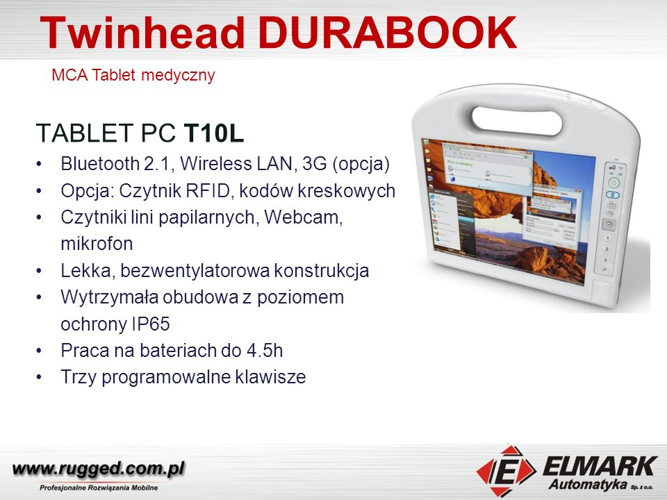 Twinhead DURABOOK TABLET PC T10L