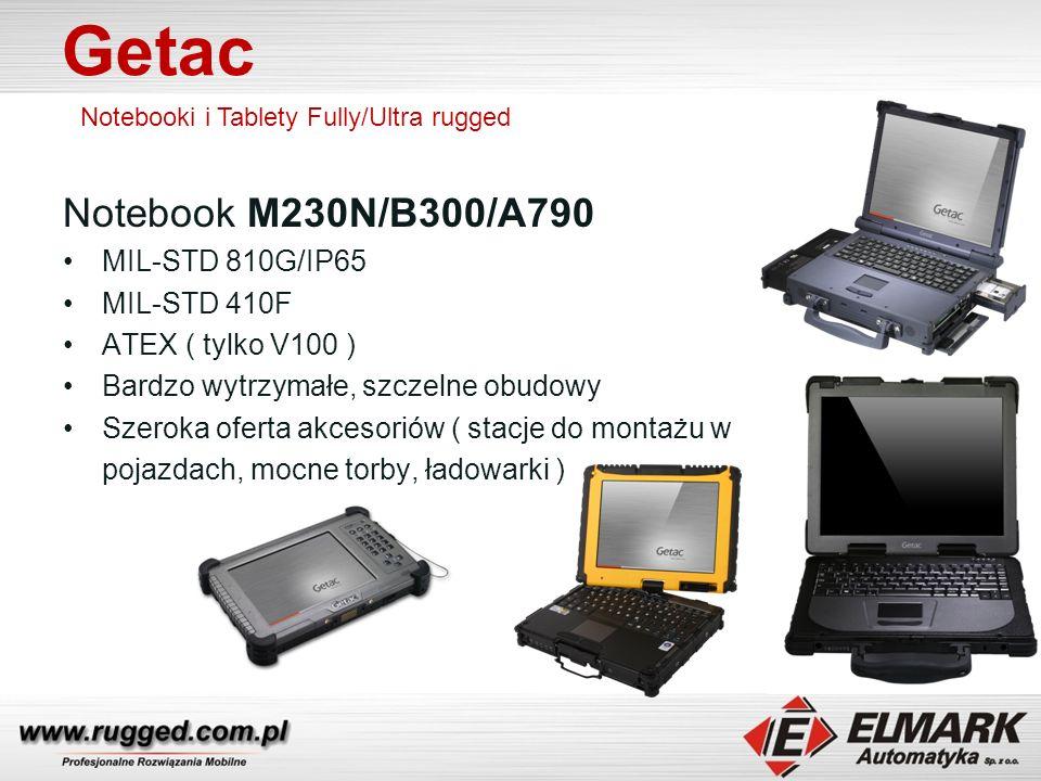 Getac Notebook M230N/B300/A790 MIL-STD 810G/IP65 MIL-STD 410F