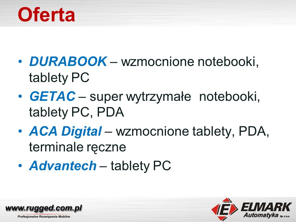 Oferta DURABOOK – wzmocnione notebooki, tablety PC