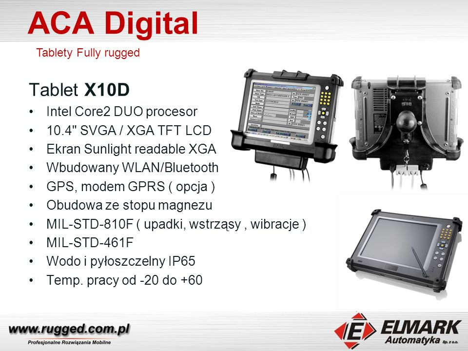 ACA Digital Tablet X10D Intel Core2 DUO procesor