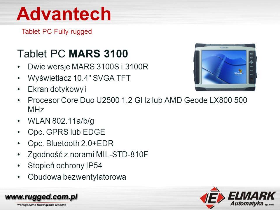 Advantech Tablet PC MARS 3100 Dwie wersje MARS 3100S i 3100R