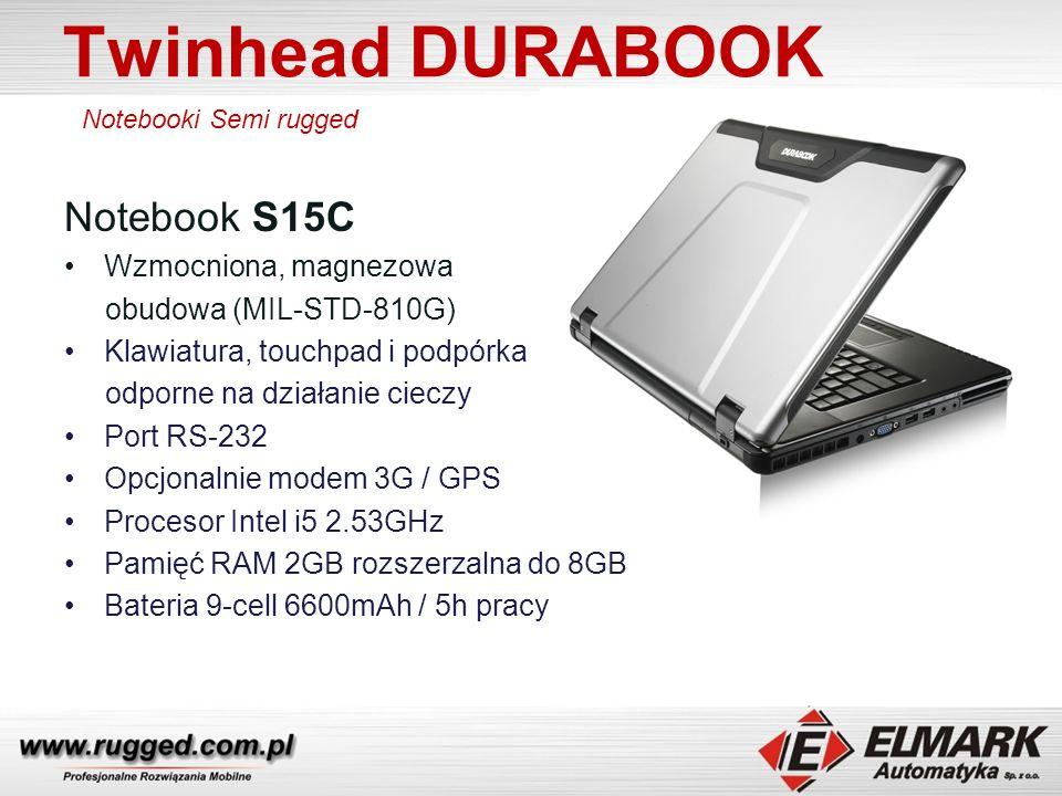 Twinhead DURABOOK Notebook S15C Wzmocniona, magnezowa