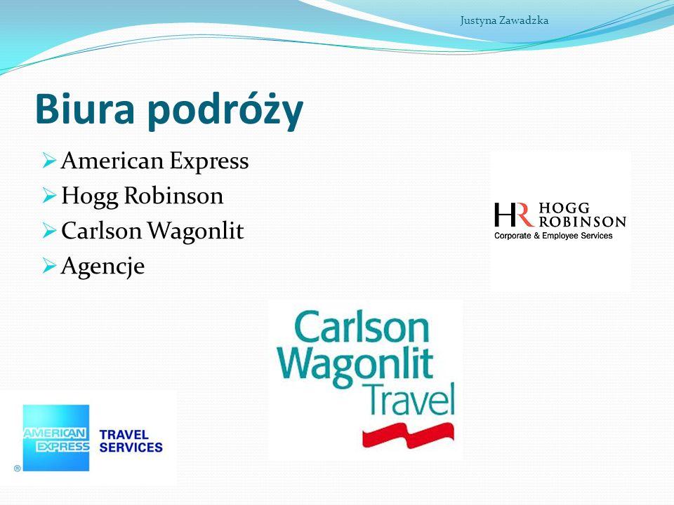 Biura podróży American Express Hogg Robinson Carlson Wagonlit Agencje