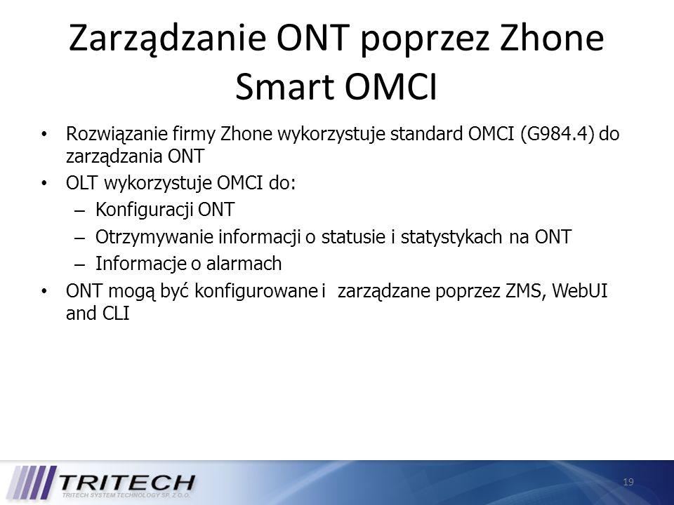 Zarządzanie ONT poprzez Zhone Smart OMCI