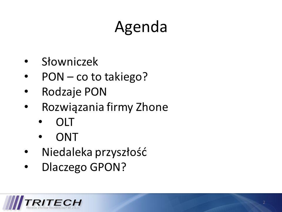 Agenda Słowniczek PON – co to takiego Rodzaje PON