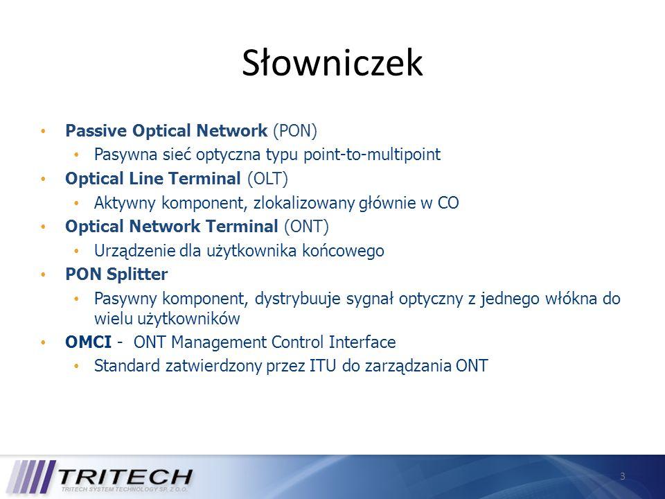 Słowniczek Passive Optical Network (PON)
