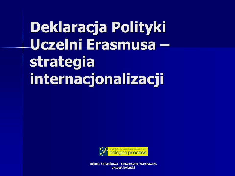 Deklaracja Polityki Uczelni Erasmusa – strategia internacjonalizacji