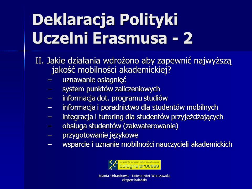 Deklaracja Polityki Uczelni Erasmusa - 2