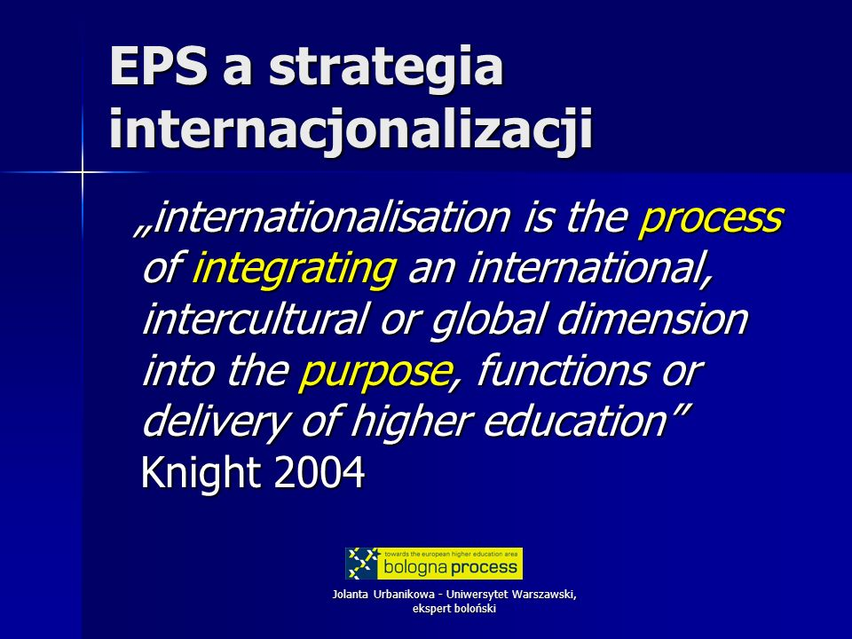 EPS a strategia internacjonalizacji