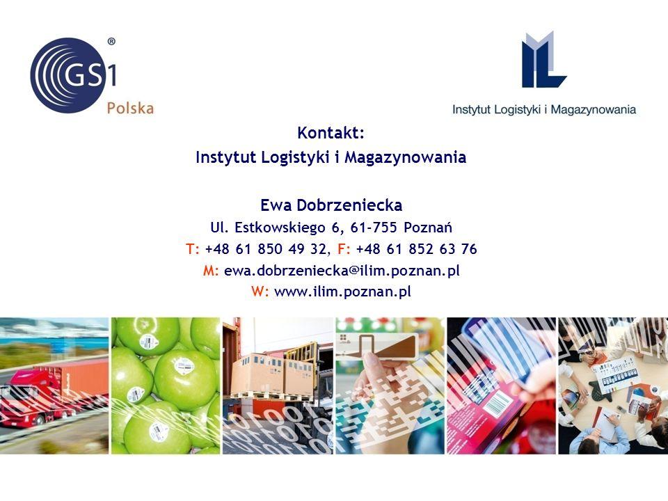Kontakt: Instytut Logistyki i Magazynowania Ewa Dobrzeniecka