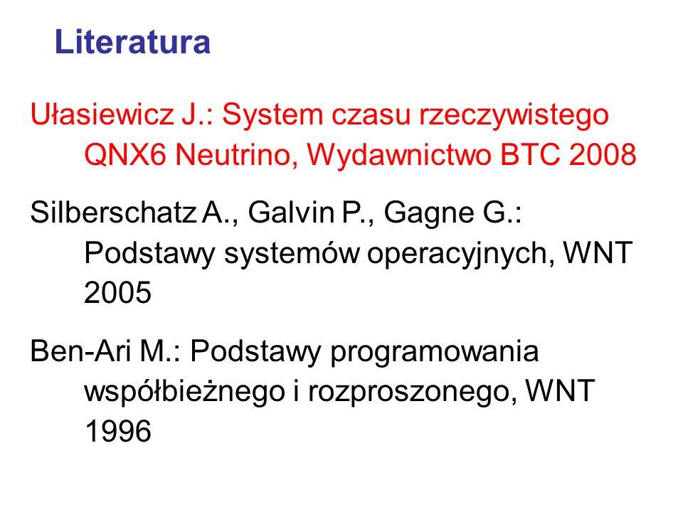 Literatura Ułasiewicz J.: System czasu rzeczywistego QNX6 Neutrino, Wydawnictwo BTC 2008.