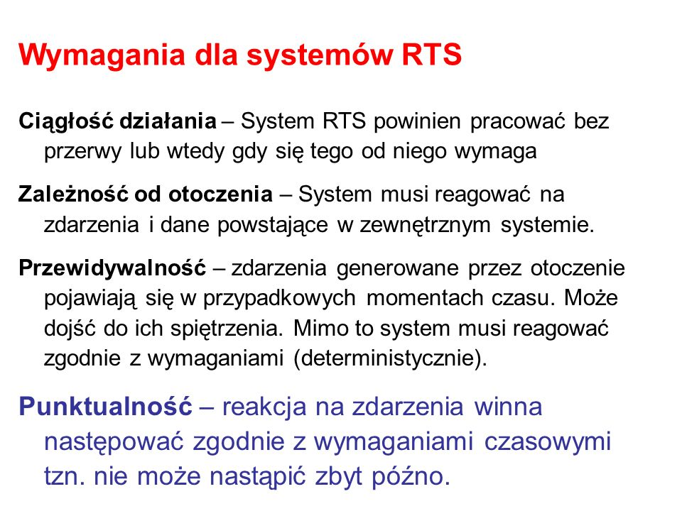 Wymagania dla systemów RTS