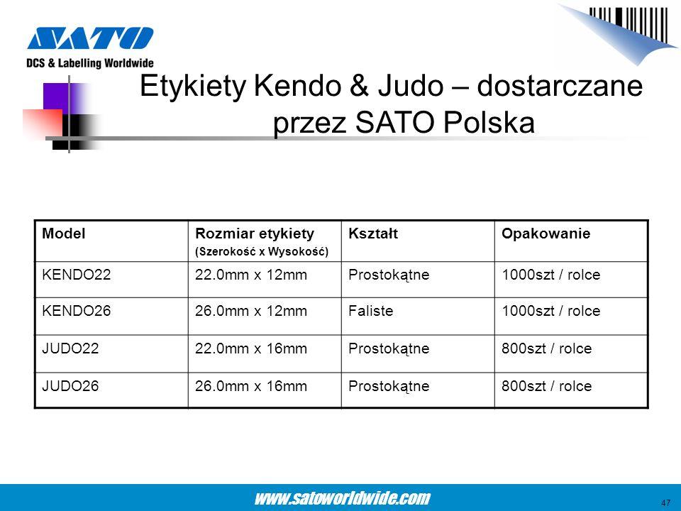 Etykiety Kendo & Judo – dostarczane przez SATO Polska