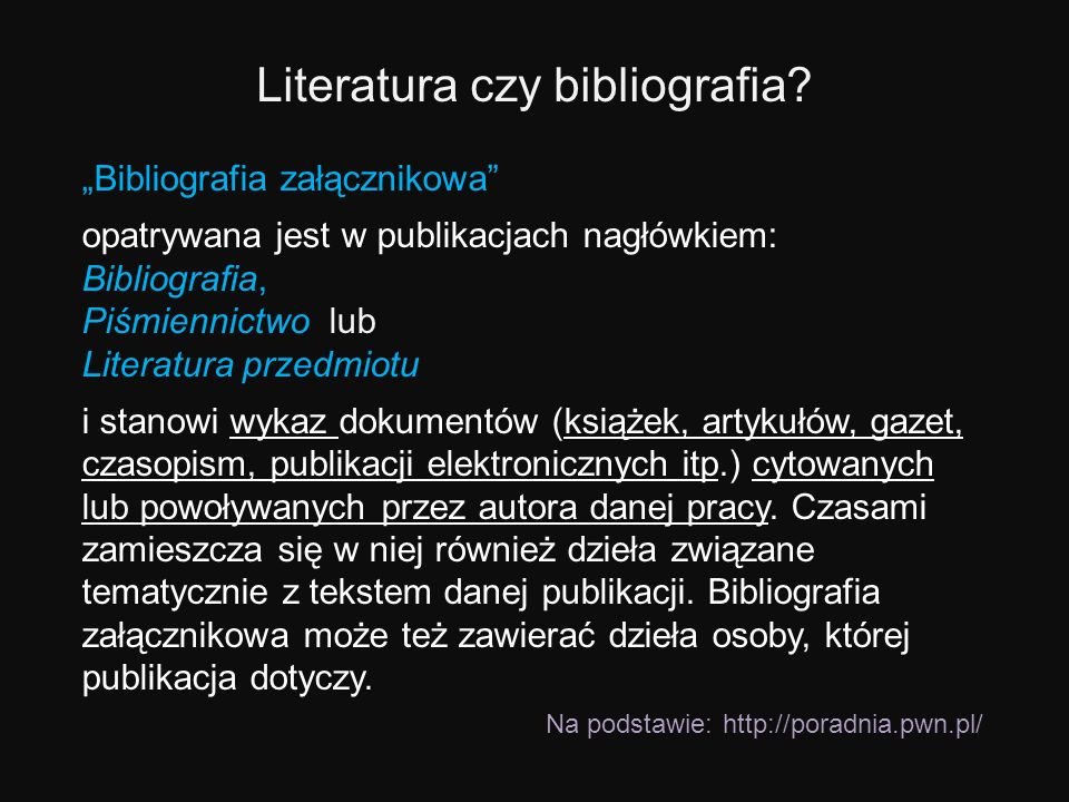 Literatura czy bibliografia