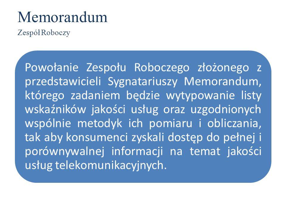 MemorandumZespół Roboczy.