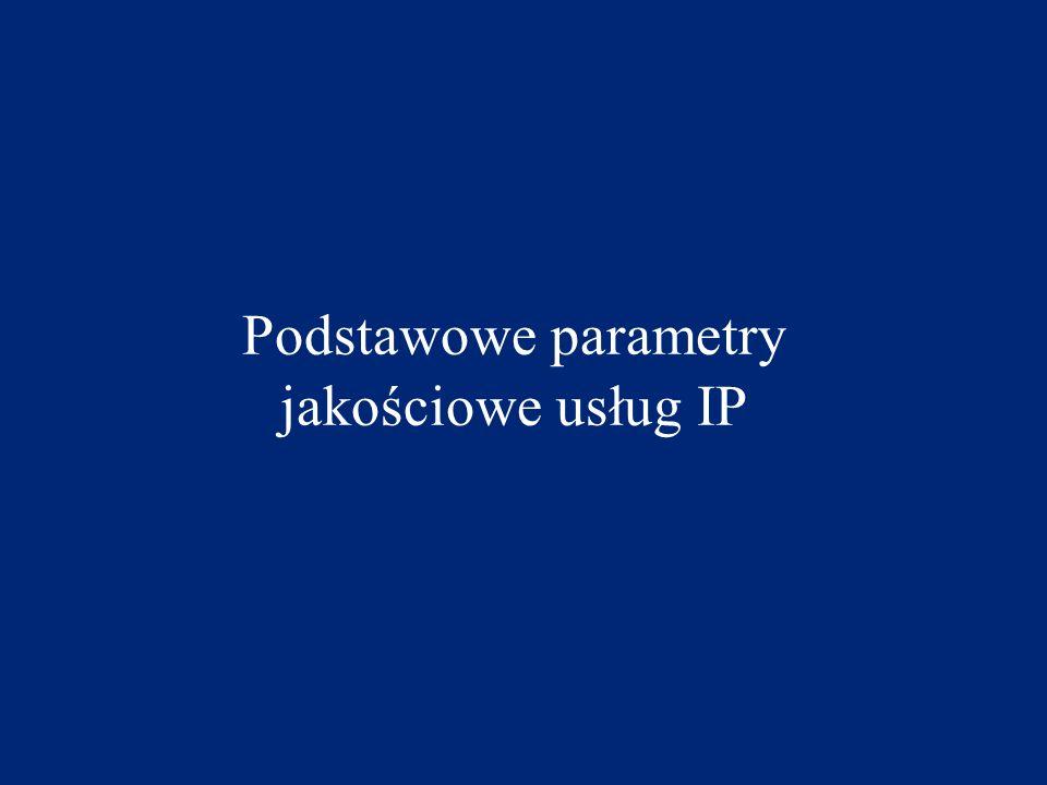 Podstawowe parametry jakościowe usług IP