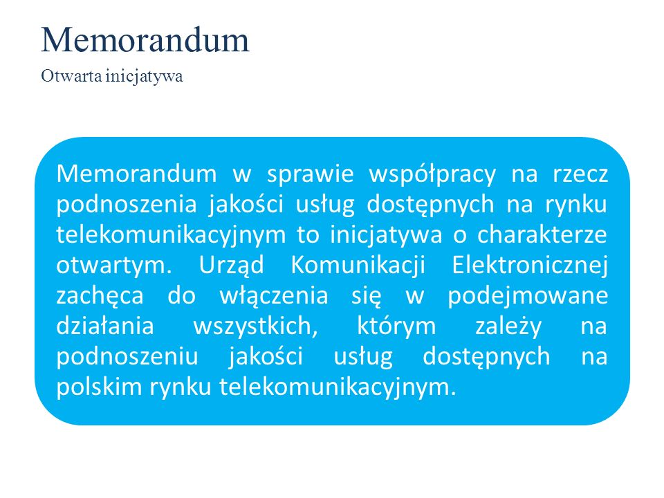 Memorandum Otwarta inicjatywa.
