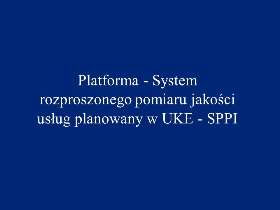 Platforma - System rozproszonego pomiaru jakości usług planowany w UKE - SPPI