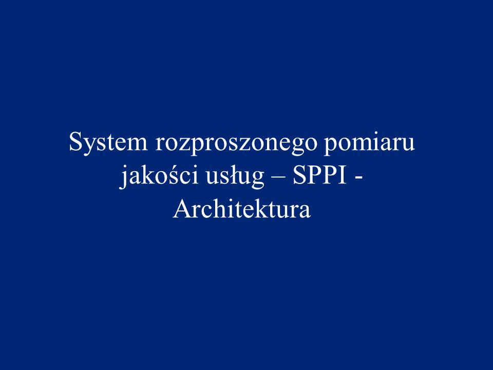 System rozproszonego pomiaru jakości usług – SPPI - Architektura