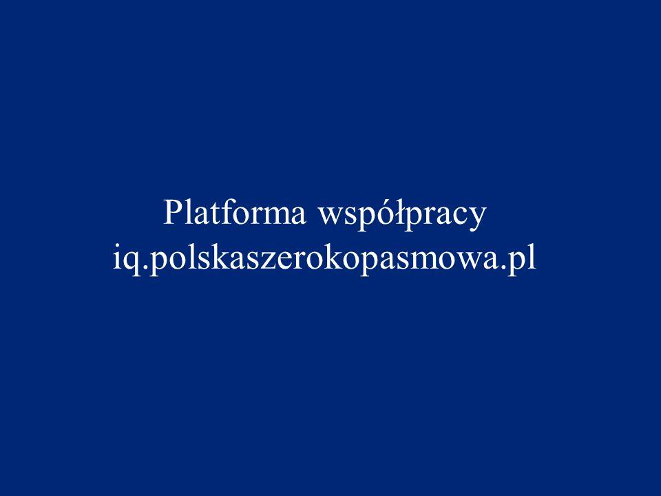Platforma współpracy iq.polskaszerokopasmowa.pl