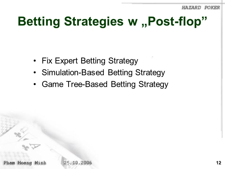 "Betting Strategies w ""Post-flop"