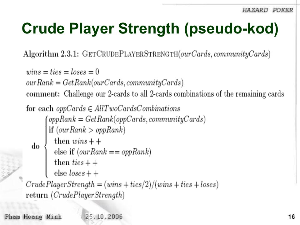 Crude Player Strength (pseudo-kod)